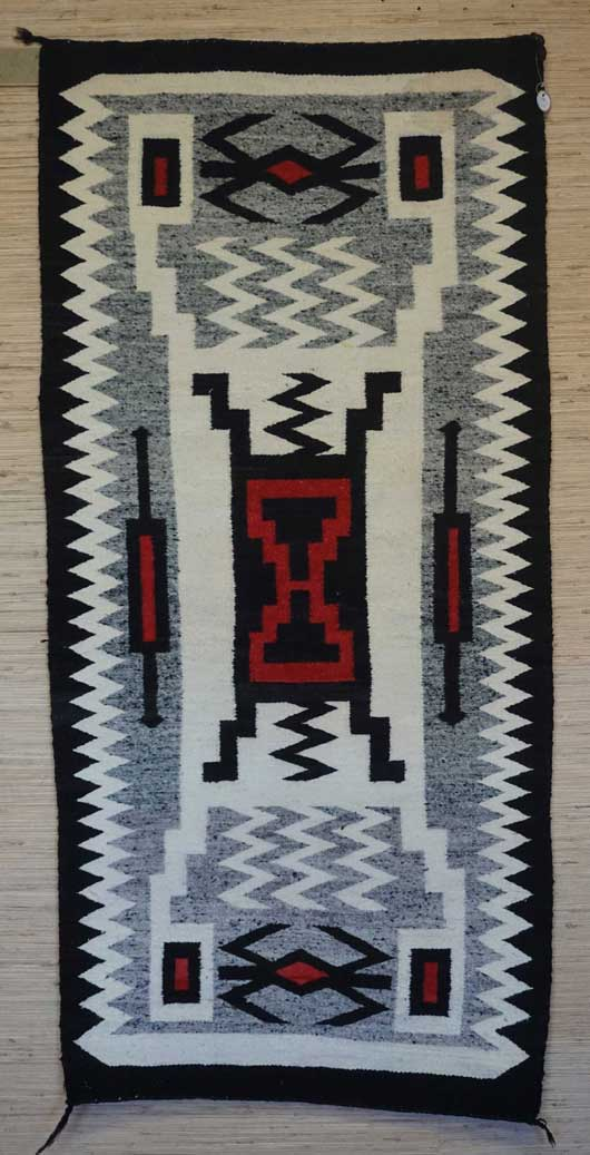 Storm Pattern Navajo Rug 1094 Photo 001