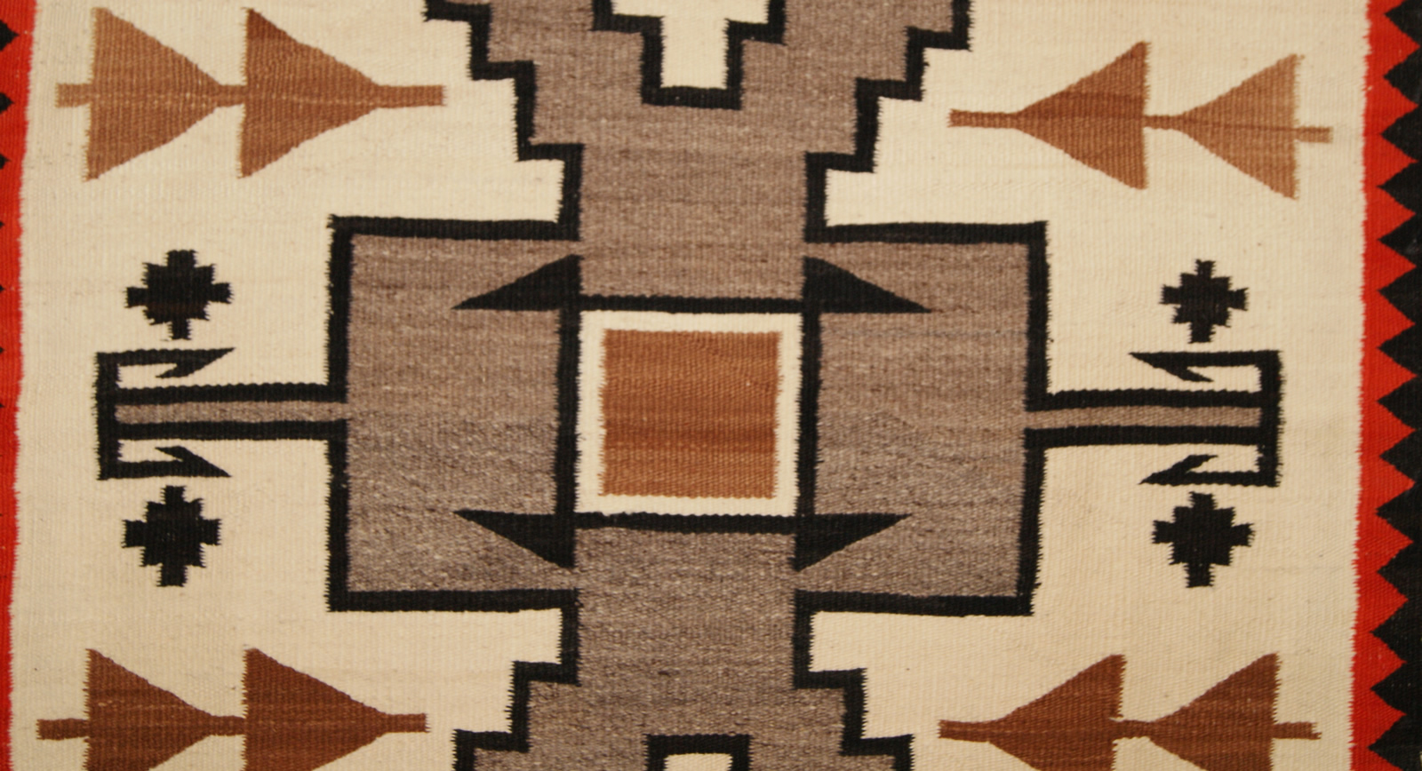 Historic Navajo Storm Pattern Navajo Rug For Sale