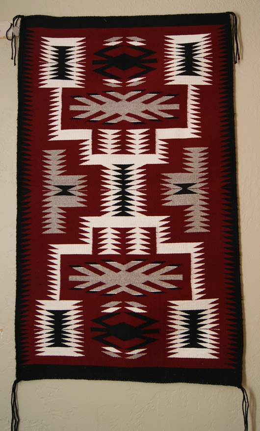 Contemporary Storm Pattern Navajo Rug For Sale Charley S