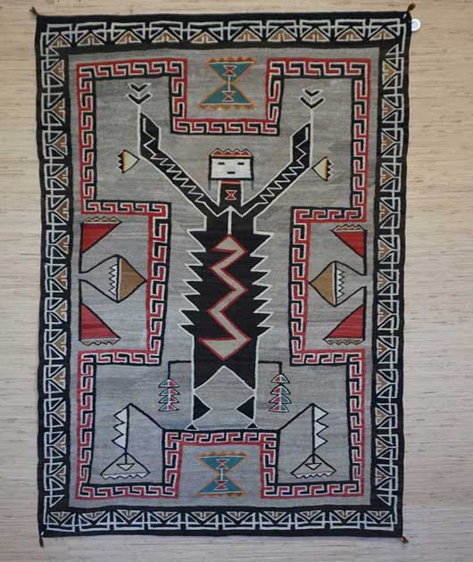 Hero Twins Navajo Rug Teec Nos Pos Monster Slayer Navajo Weaving Circa 1920