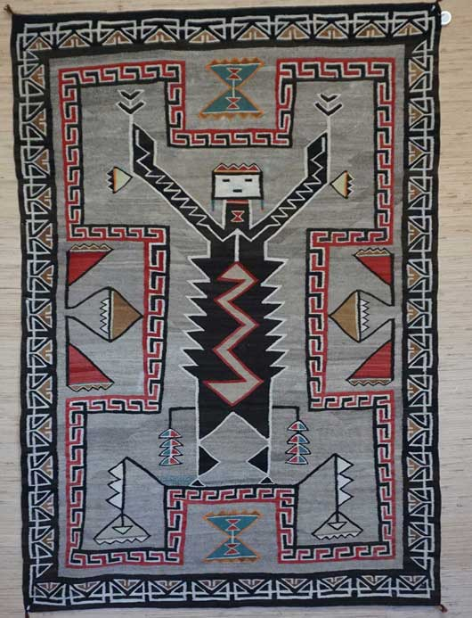 Teec Nos Pos Monster Slayer Navajo Weaving 1031