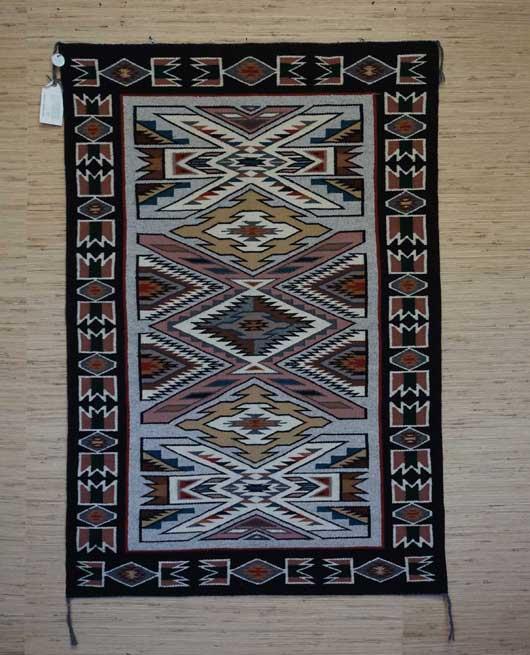 Teec Nos Pos Navajo Rug by Irene Littleben 978 for Sale