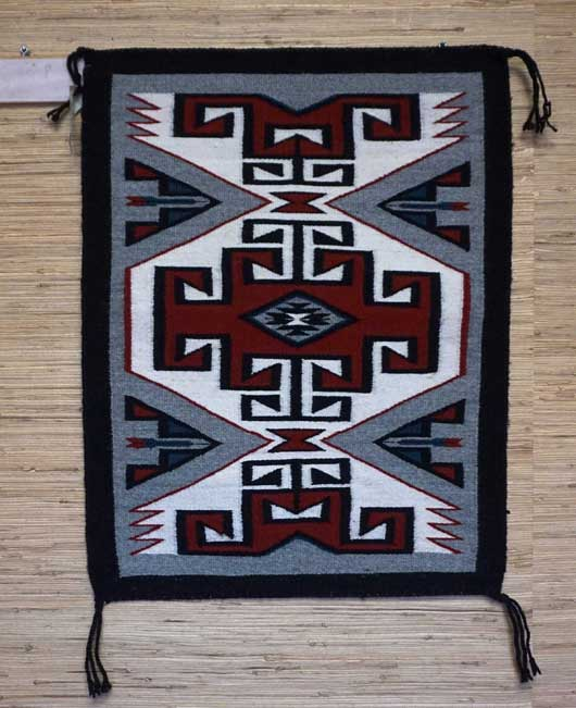 Teec Nos Pos Navajo Rug with a Black Ribbon Border 938
