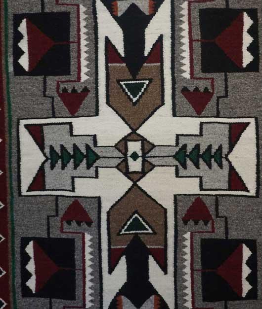 Teec Nos Pos Storm Pattern Navajo Rug 1104 Photo 002