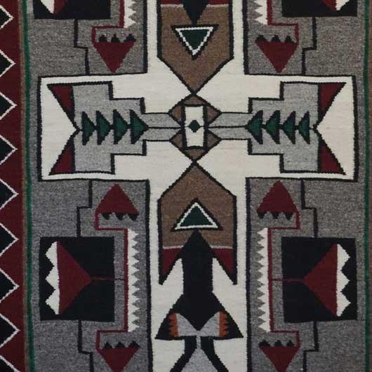 Teec Nos Pos Storm Pattern Navajo Rug 1104 Photo 003