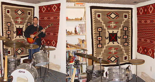 Navajo Rug Weavings in a Recording Studio