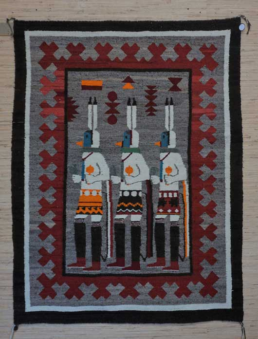 The Three Gallegos Dancers Navajo Rug for Sale 1133 Photo 001