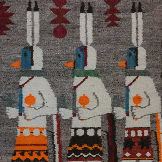 The Three Gallegos Dancers Navajo Rug for Sale 1133 Photo 002