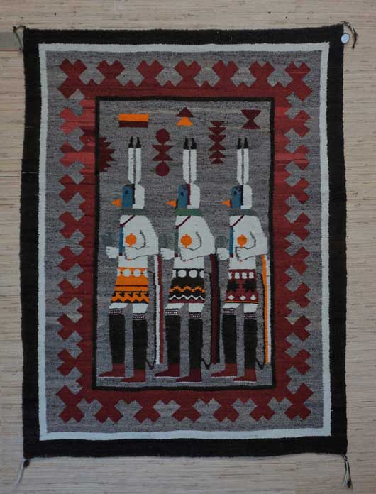 The Three Gallegos Dancers Navajo Rug for Sale 1133 Photo 003