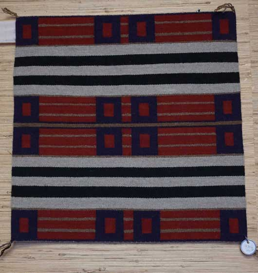 Three Small Sampler First, Second and Third Chief's Blankets Navajo Rug Weavings for Sale 970a b c