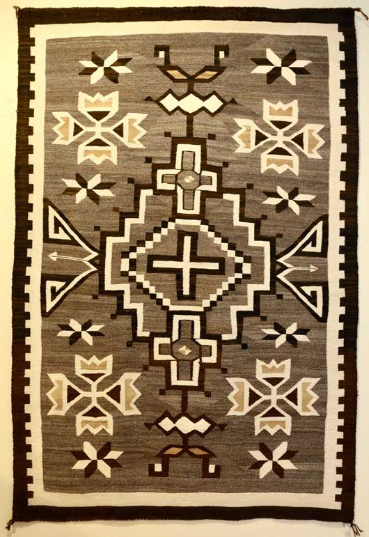 Toadlena Two Grey Hills Navajo Rug 735 Photo 001