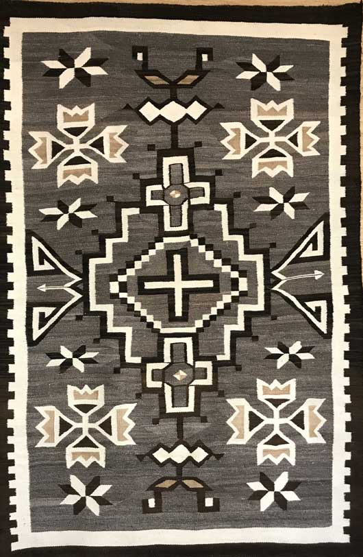 Toadlena Two Grey Hills Navajo Rug 735 Photo 004
