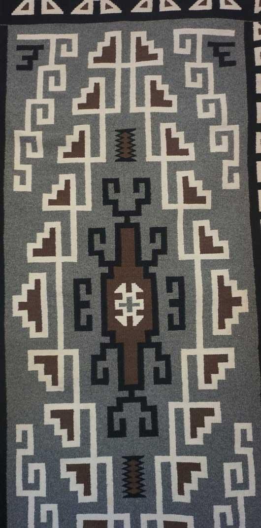 Toadlena / Two Grey Hills Toadlena / Two Grey Hills Navajo Rug for Sale 1048