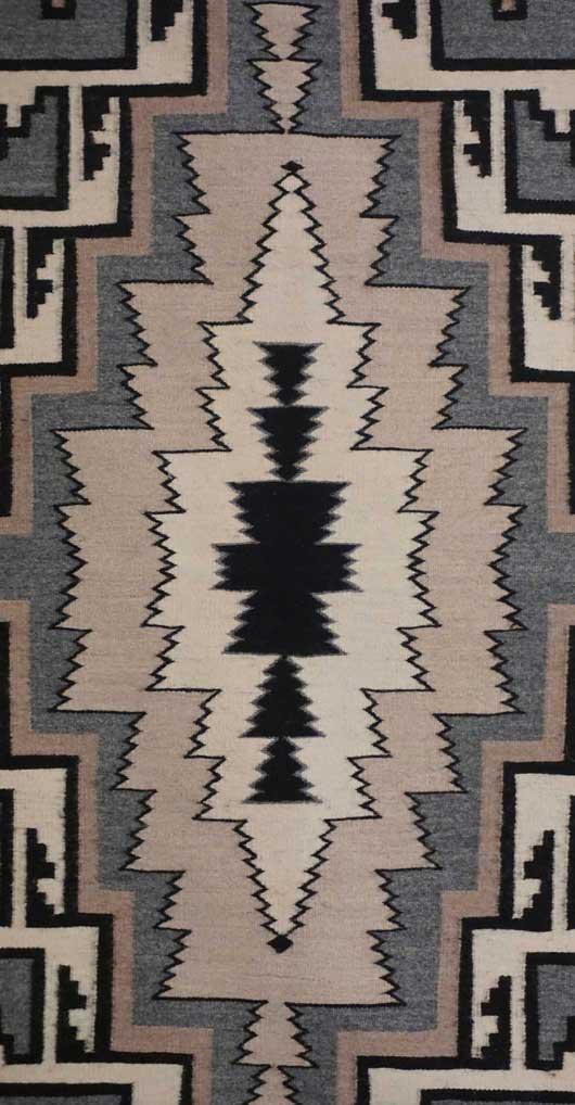 Toadlena Two Grey Hills Navajo Weaving by Daisy Taugelchee 1068