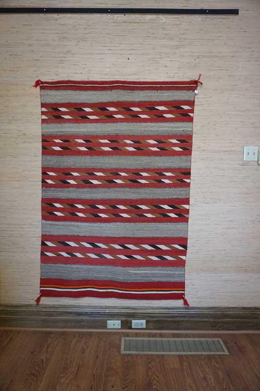 Transitional Navajo Banded Rug for Sale 1060