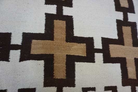 Transitional Navajo Blanket with 24 Crosses