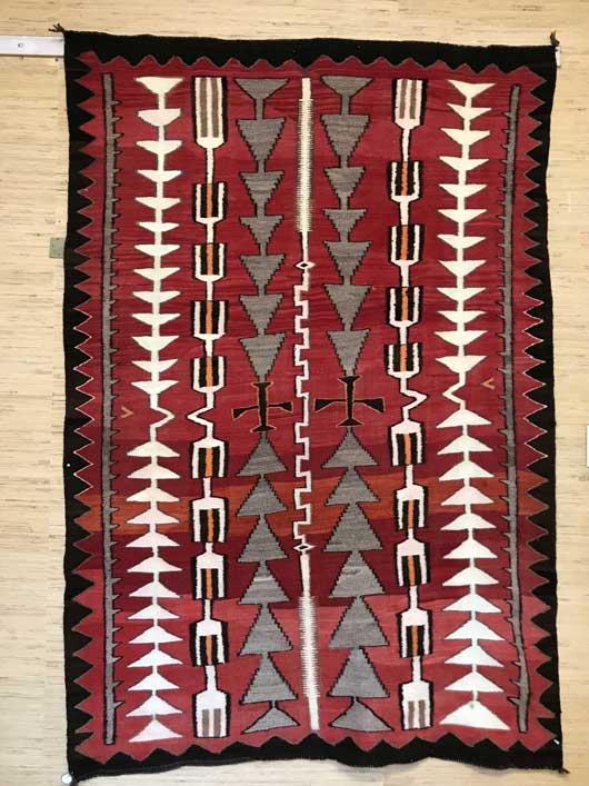 Antique Transitional Navajo Rug 1123