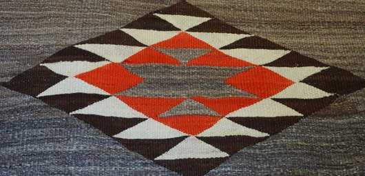 Transitional Navajo Rug with Five Large Diamonds 1056