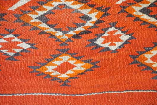 Transitional Single Navajo Saddle Blanket with Dazzler Pattern 1016