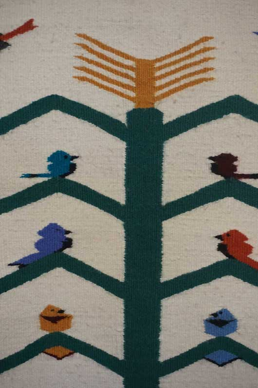 Tree of Life Navajo Rug with Home Sweet Home Across the Top 1093
