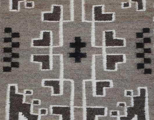 Two Grey Hills Navajo Weaving 967
