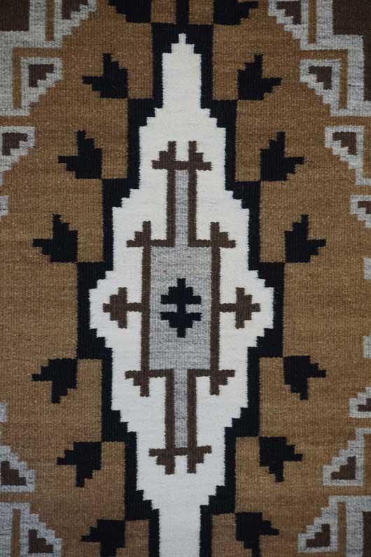 Two Grey Hills Navajo Weaving 968