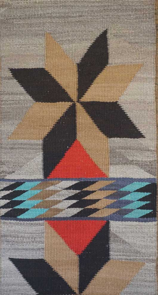 Valero Stars Double Saddle Blanket Navajo Rug for Sale 994 for Sale