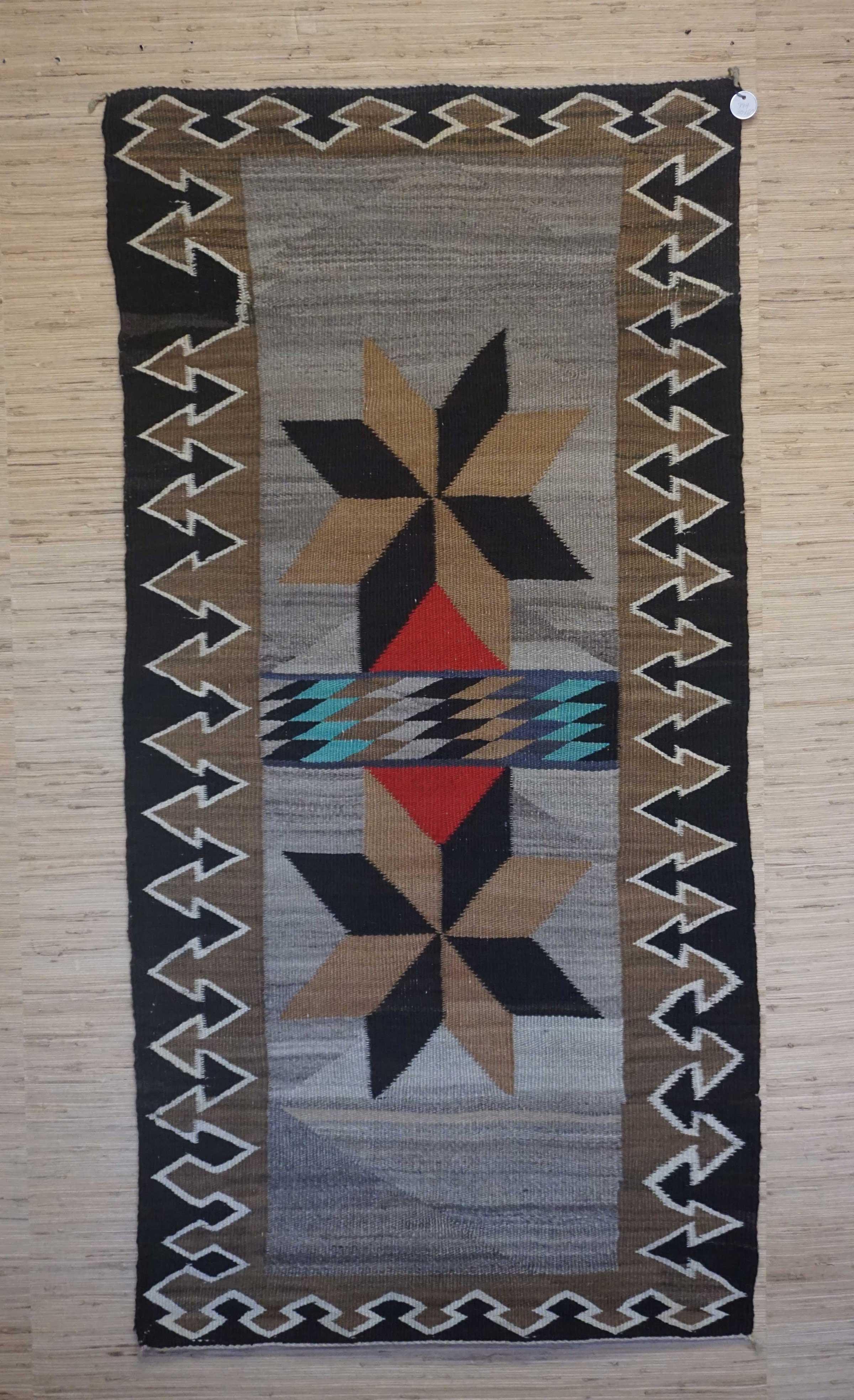 Valero Stars Double Saddle Blanket Navajo Rug For Sale 994