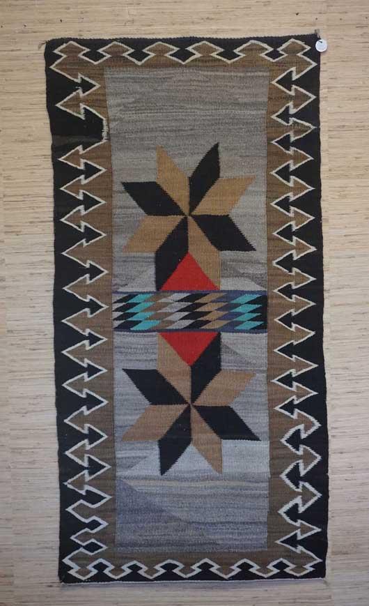 Valero Stars Double Saddle Blanket Navajo Rug for Sale 994 for Sale