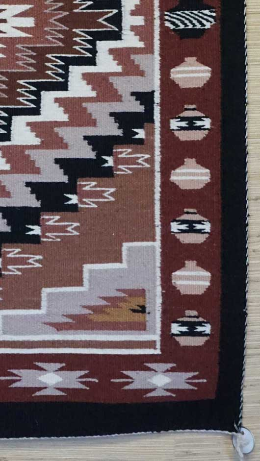 Vegetal Dyed Burnham Pictorial Navajo Rug for Sale 984 for Sale