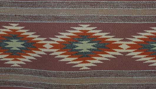 Vegetal Dyed Crystal Banded Navajo Rug for Sale 977 for Sale