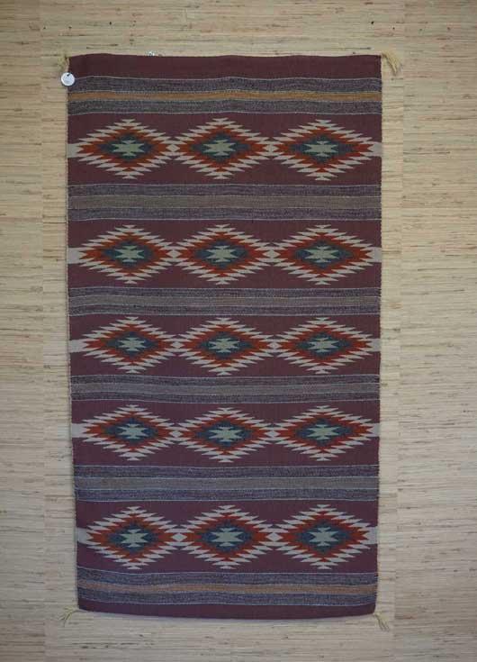 Vegetal Dyed Crystal Banded Navajo Rug for Sale 977 for Sale