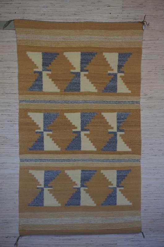 Wide Ruins Vegetal Dyed Navajo Rug 1059