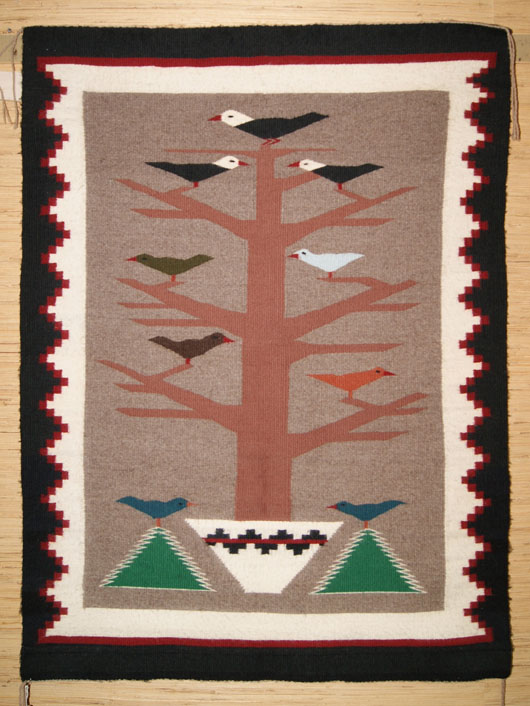 Navajo Tree Of Life Weaving For Sale 407 Charley S