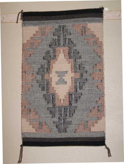 Raised Outline Navajo Weaving By Irene Tully 427 Charley