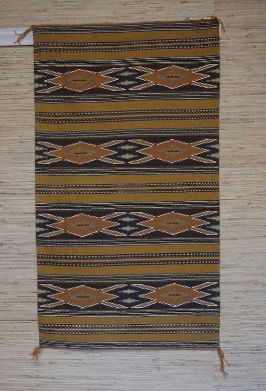 Wide Ruins Navajo Weaving Vegetal Dyed 673 Charley S