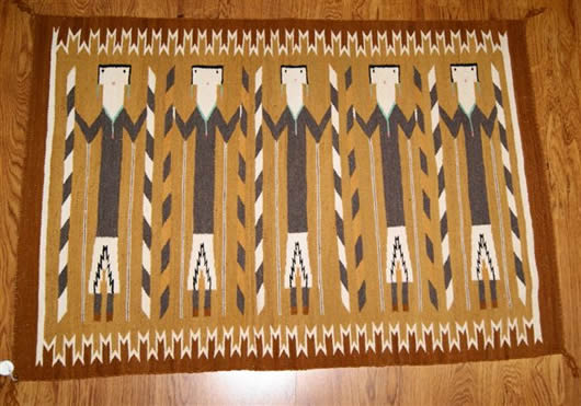 Yei Navajo Rug Weaving 071 Charley S Navajo Rugs For Sale
