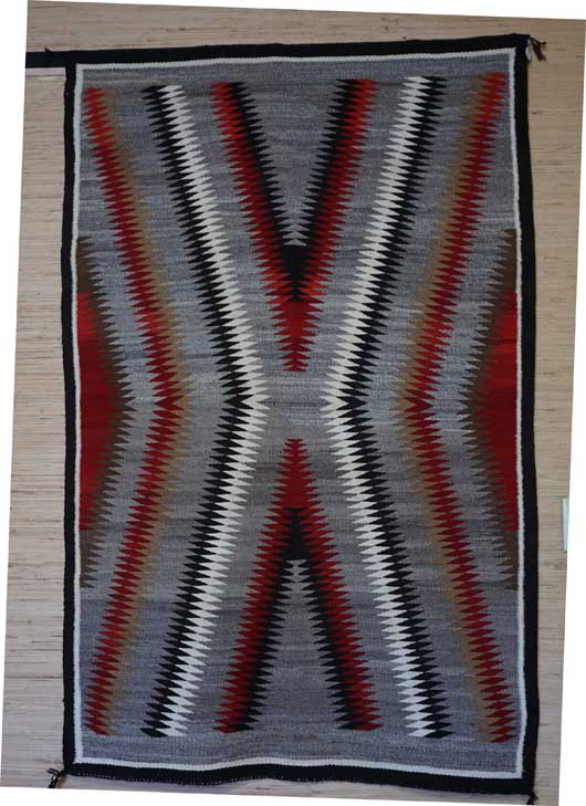 Lightning Bolt Pattern Navajo Rug 760 Charley S Navajo