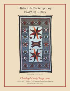 Charley's Navajo Rugs May June Native American Art Magazine Ad