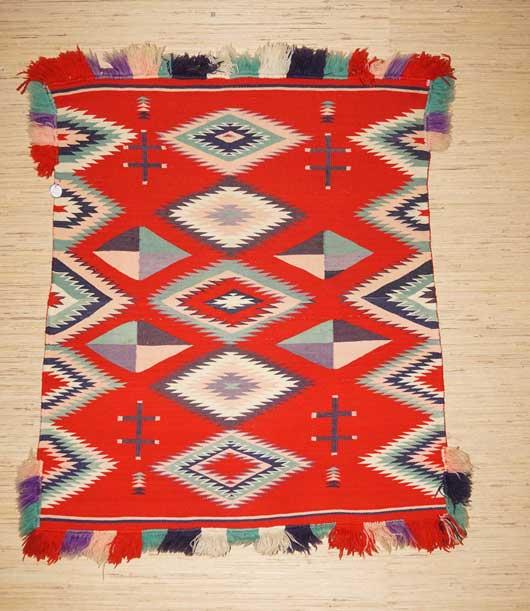 Navajo Germantown Sunday Saddle Blanket 803 For Sale