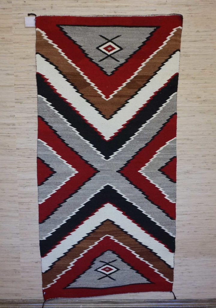 Navajo Double Saddle Blanket With Water Bugs 830