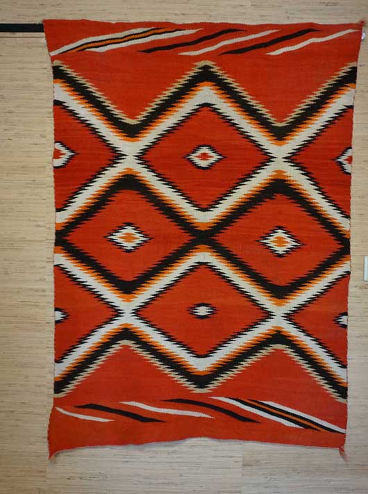 Wedge Weave Navajo Blanket With Indigo Blue 880
