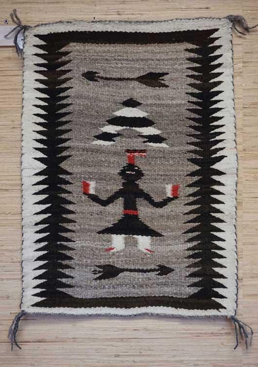 Single Figure Yei Pictorial Navajo Weaving 887 Charley S