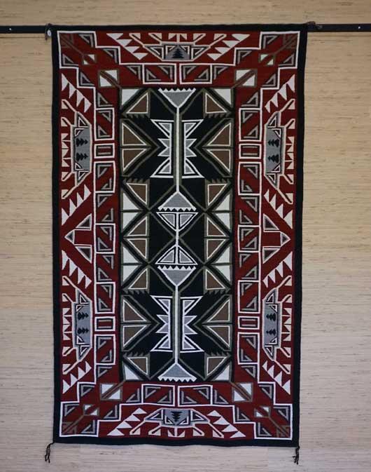 Teec Nos Pos Navajo Rug Weaving For Sale By Master Weaver