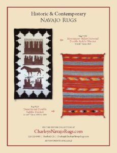 Monument Valley Pictorial Navajo Double Saddle Blanket and Transitional Navajo Double Saddle Blanket