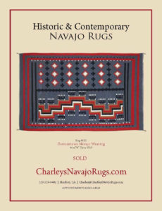 #883 Navajo Rug Weaving Germantown Unique Asymmetrical Design Circa 1910