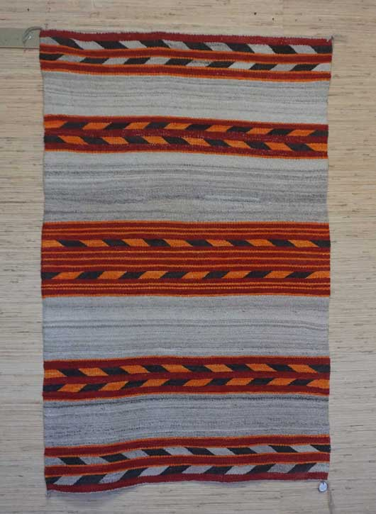 Banded Navajo Double Saddle Blanket 1026 Charley S