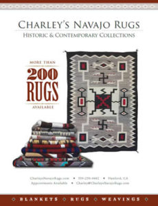 Charley's Navajo Rugs February March 2019 Native American Art Magazine Ad