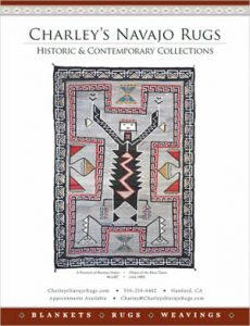 Teec Nos Pos Monster Slayer Navajo Rug for Sale ad in Native American Art Magazine presented by Charley's Navajo Rugs