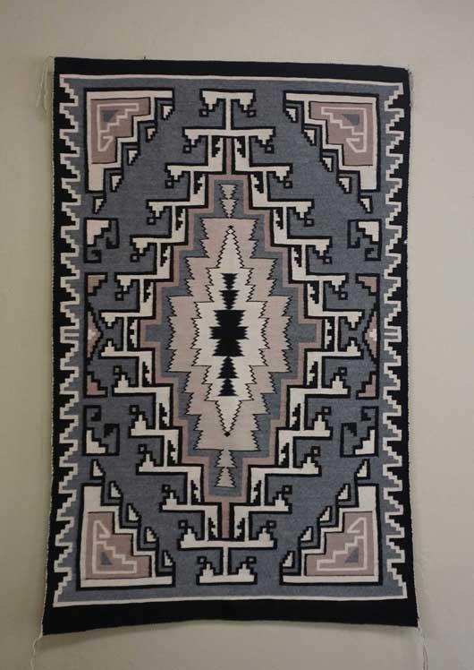 Toadlena Two Grey Hills Navajo Weaving By Daisy Taugelchee